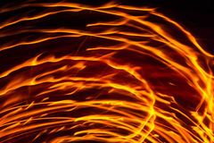 Flamme abstraite du feu Photos stock