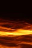 Flamme auf schwarzem Hintergrund Stockbild