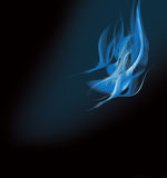 Flamme bleue Photos libres de droits