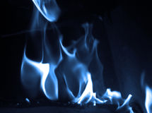 Flamme bleue Image stock