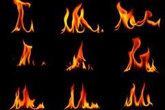 Flamme brûlante Photographie stock libre de droits