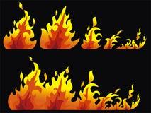 flamme brûlante Photos libres de droits