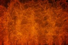 Flamme brûlante d'incendie Photographie stock libre de droits