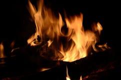 Flamme brûlante d'incendie Image libre de droits