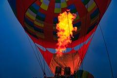 Flamme chaude de ballon à air Photos libres de droits