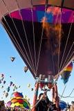 Flamme chaude de ballon à air dessus Photo libre de droits