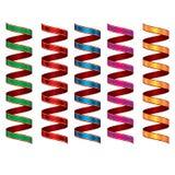 Flamme colorée Décoration de serpentine de partie de carnaval illustration libre de droits