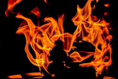 Flamme d'incendie Photo stock