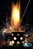 Flamme d'incendie Image stock