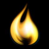 Flamme d'incendie de vecteur Image libre de droits