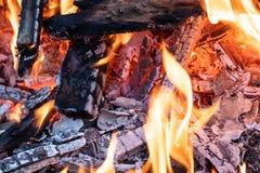 Flamme d'incinération des déchets photographie stock