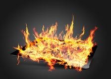 Flamme d'Ipad Photo stock