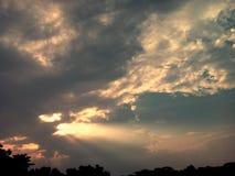 Flamme dans le ciel Photo libre de droits