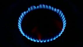 Flamme de cuisinière à gaz banque de vidéos