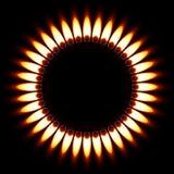Flamme de gaz. Photographie stock libre de droits