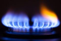 Flamme de gaz photo stock