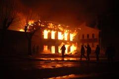 Flamme de nuit photographie stock libre de droits