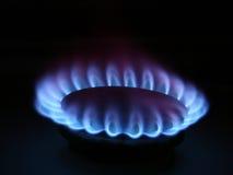 Flamme de poêle de gaz photo libre de droits
