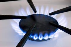 Flamme de poêle de gaz Images libres de droits