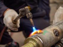 Flamme de soudure photo libre de droits