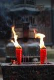 Flamme der Kerze Lizenzfreie Stockfotos
