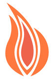 Flamme du feu illustration stock