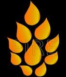 Flamme du feu Image libre de droits