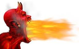 Flamme du feu de démon illustration stock