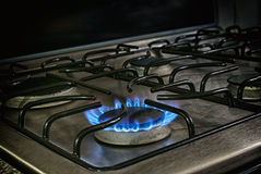 Flamme du feu de fourneau Photos stock