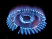 Flamme eines Gasbrenners stockbild