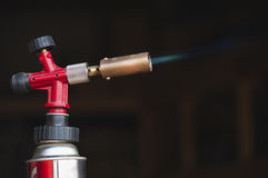 Flamme eines Gasbrenners Stockfotografie