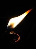 Flamme en vent Photographie stock