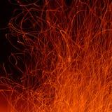 Flamme et étincelles Images libres de droits
