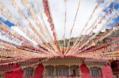 Flamme et temple de Sutra Image stock