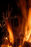 Flamme et traces des étincelles Photographie stock