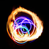 Flamme-helle Abstraktion Lizenzfreies Stockfoto
