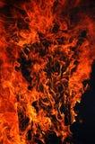 Flamme im Schwarzen Stockfotografie