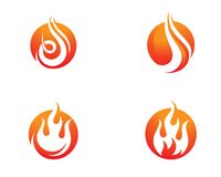 Flamme Logo Template du feu Images stock