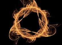 Flamme magique d'incendie - imagination 3D illustration de vecteur