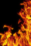 flamme noire de fond d'isolement plus de Photographie stock libre de droits