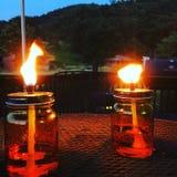 Flamme nue Photographie stock libre de droits