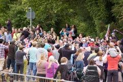 Flamme olympique dans Basingstoke Photographie stock libre de droits