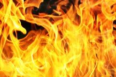 Flamme orange d'incendie Photo stock