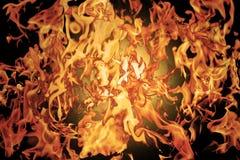 Flamme rouge Langues du feu dans un collage photos stock