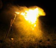 Flamme von einer Fackel Stockbild