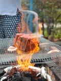 Flamme Wagyu Image libre de droits