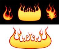 Flammeansammlung Stockfotografie