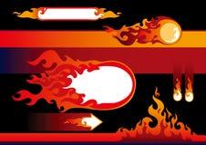 Flammeauslegungelemente Stockfoto