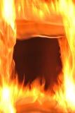 Flammefeld stockbilder