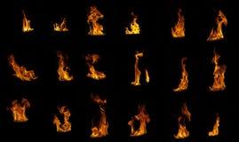 Flammekompilation Lizenzfreie Stockfotos